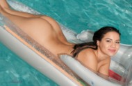 Lacey banghard  pool fun.
